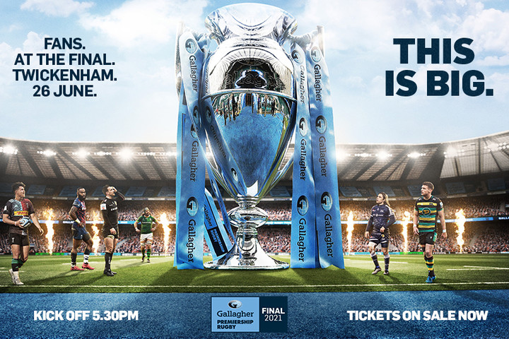 Tickets for the Gallagher Premiership Rugby Final 2021 to go on sale