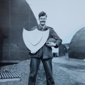 John Odams with the Arctic Shield, 1956