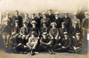 1904 British and Irish Lions whom Bedell-Sivright (centre middle-row) captained