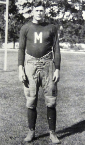 Marine Harry B Liversedge as a member of the Quantico Marines football XI in the early 1920s