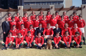 1974: Team group photograph taken during the British Lions tour to South Africa. Mandatory Credit: Allsport UK /Allsport