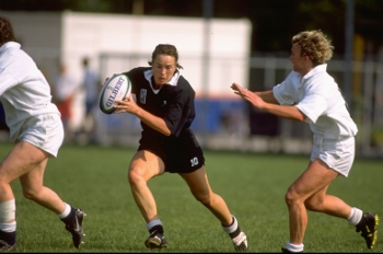 Anna Richards of New Zealand and Suzy Appleby of England