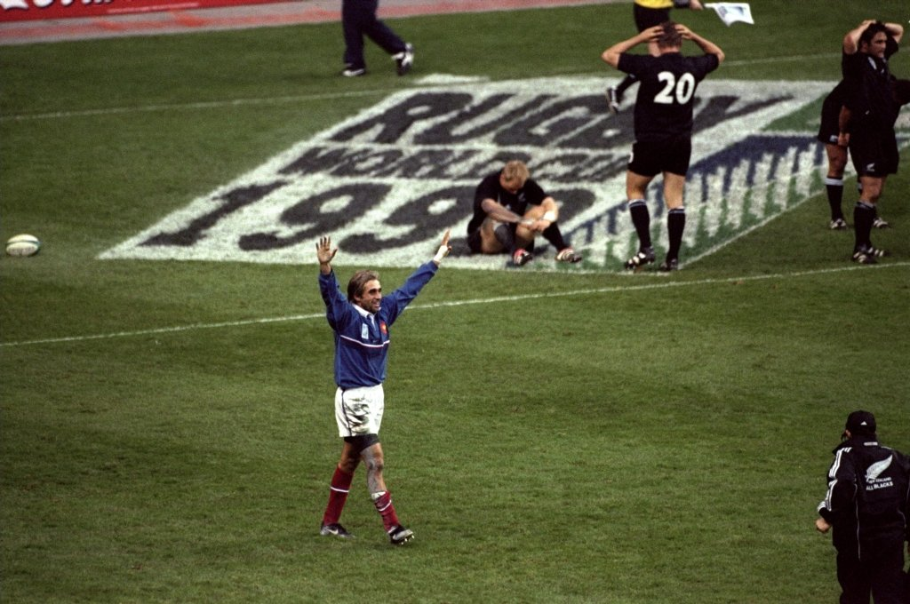 French team celebrate