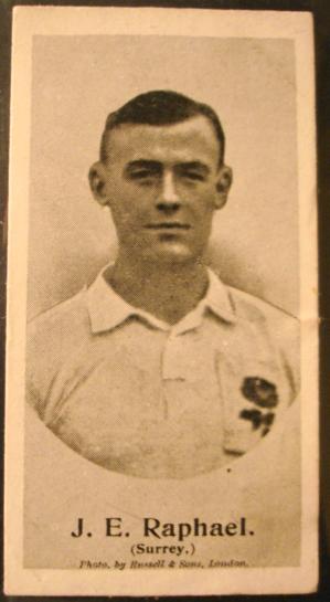 JOHN EDWARD RAPHAEL cigarette card