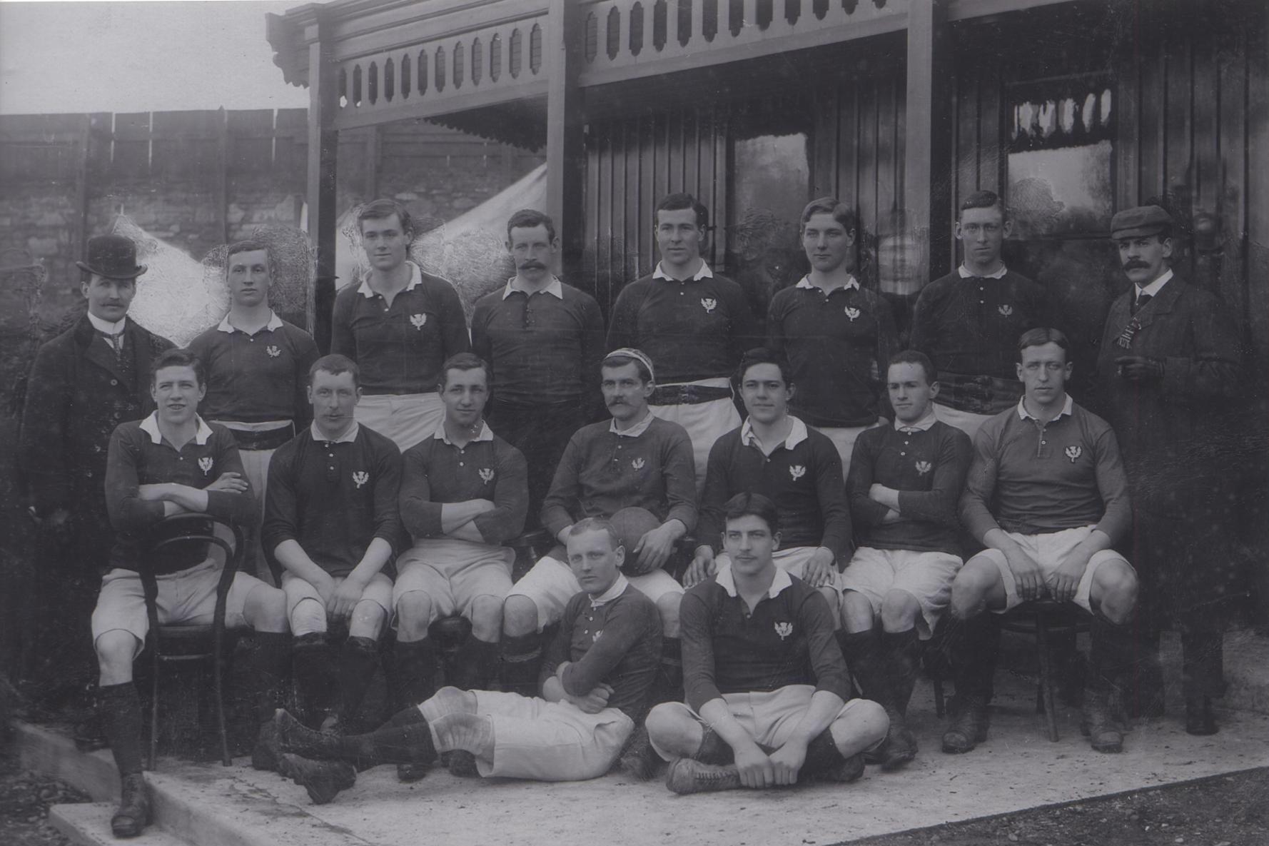 Scotland team v Ireland, 1900