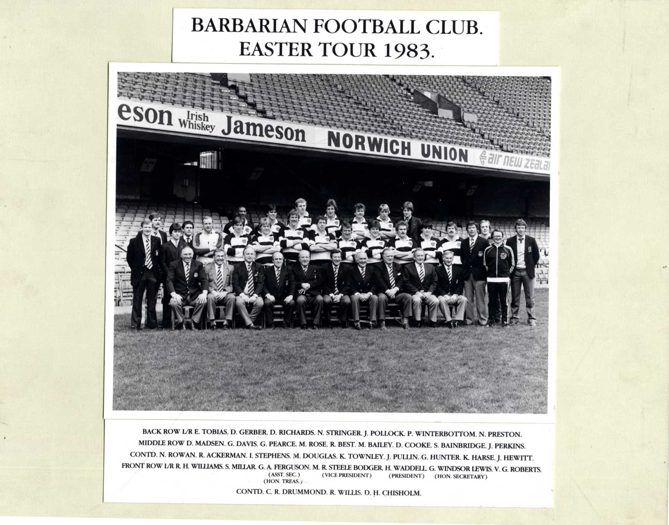 Barbarian FC Easter Tour 1983