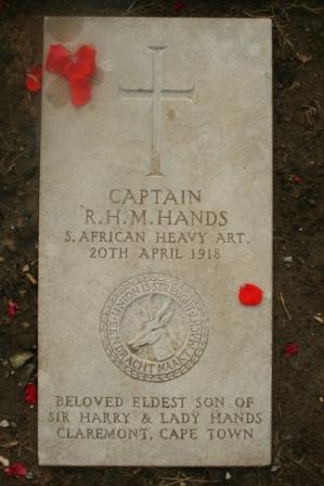 REGINALD HANDS memorial