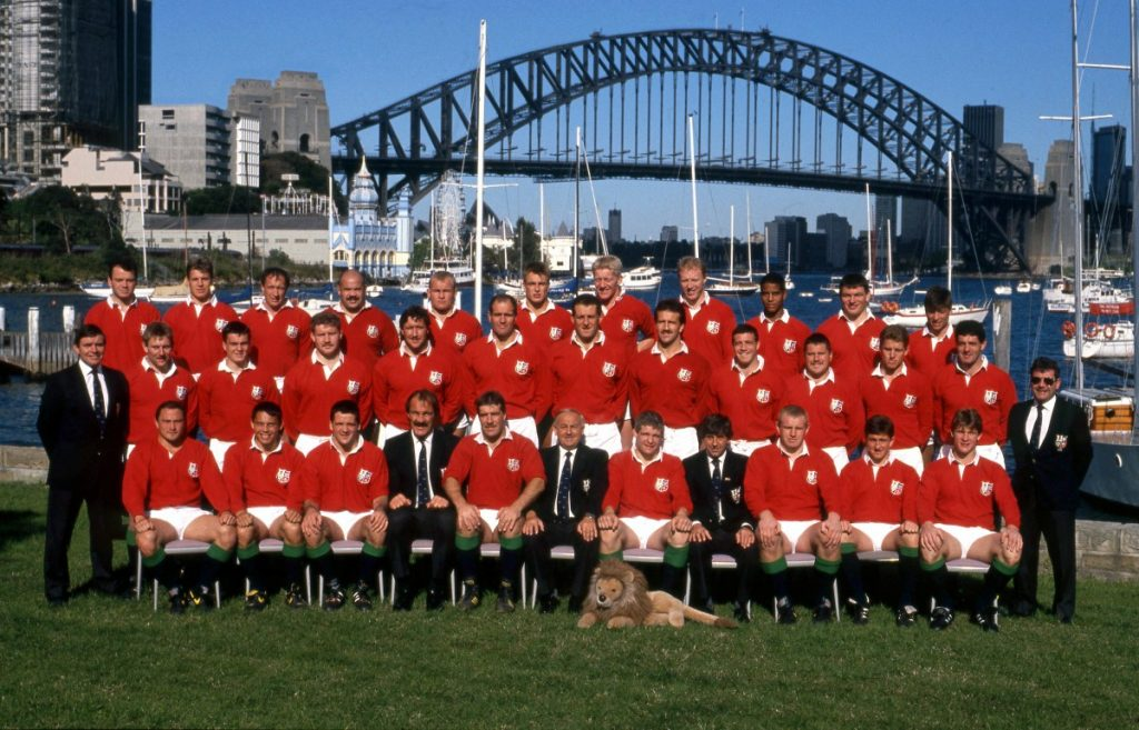 The 1989 Lions – Rory is seated 2nd from the left
