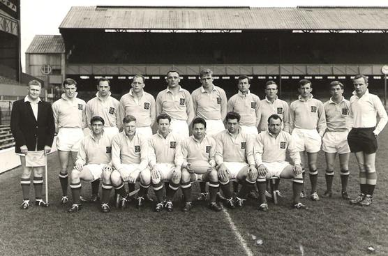 Inter-Service team, 1965. Peter Larter is 6th from left in back row.