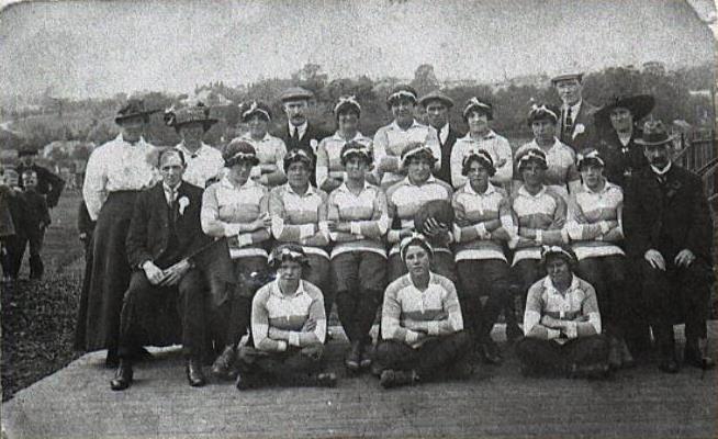 Women's rugby team, Newport, c. 1917/18