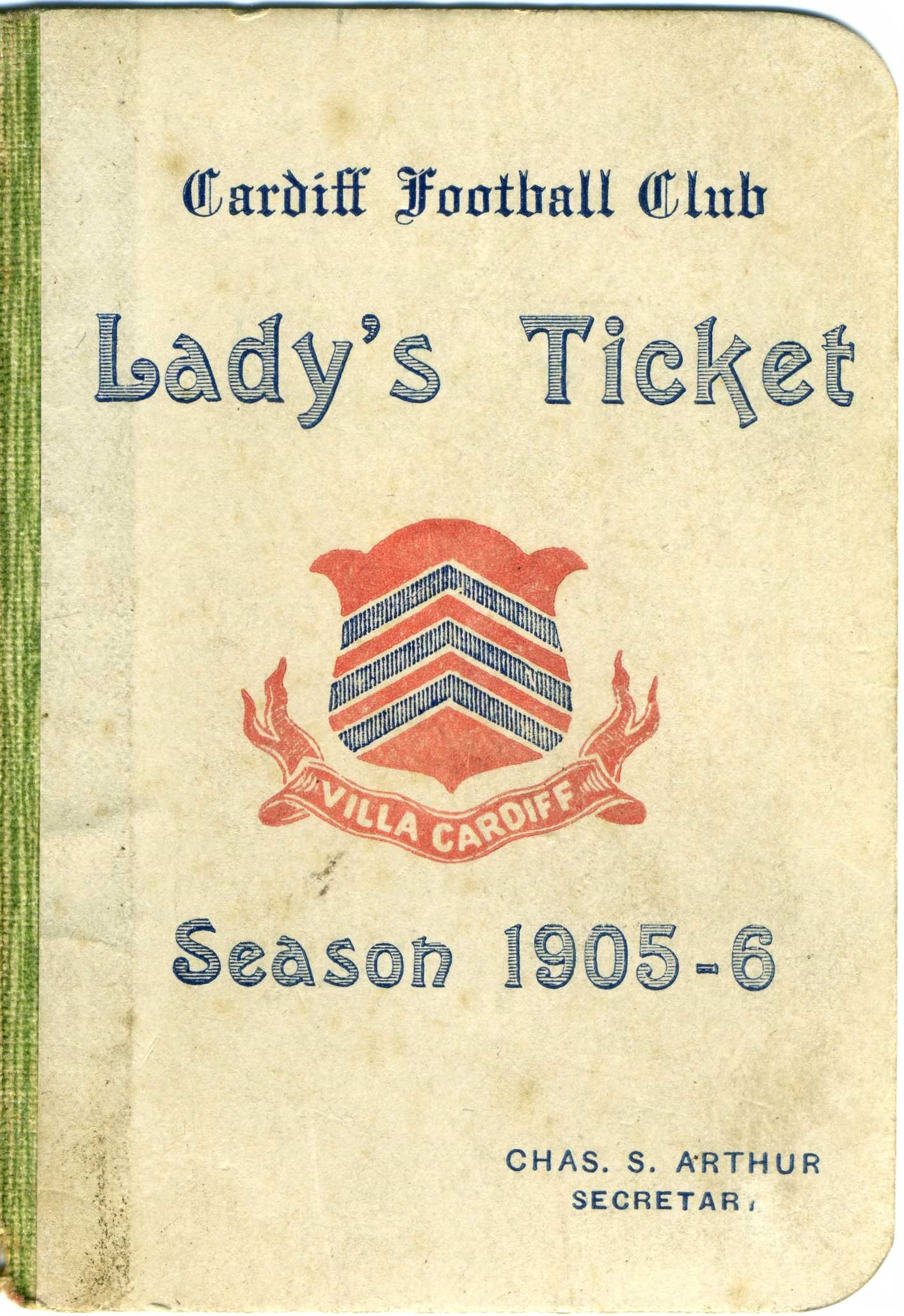 Cardiff Lady's Season Ticket 1905-06