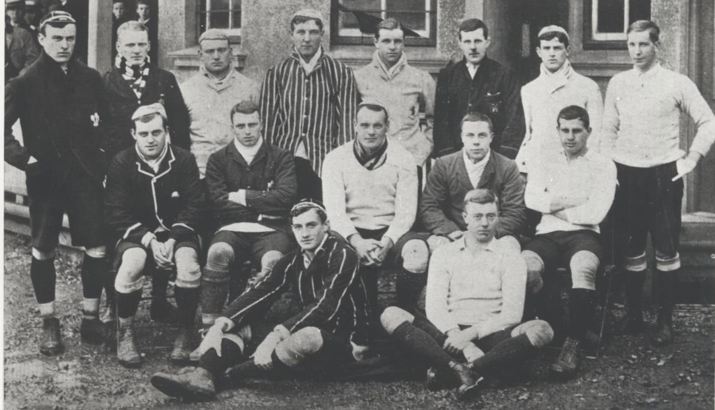 British Isles team, 1903. Louis Greig is 2nd from right in the middle row.