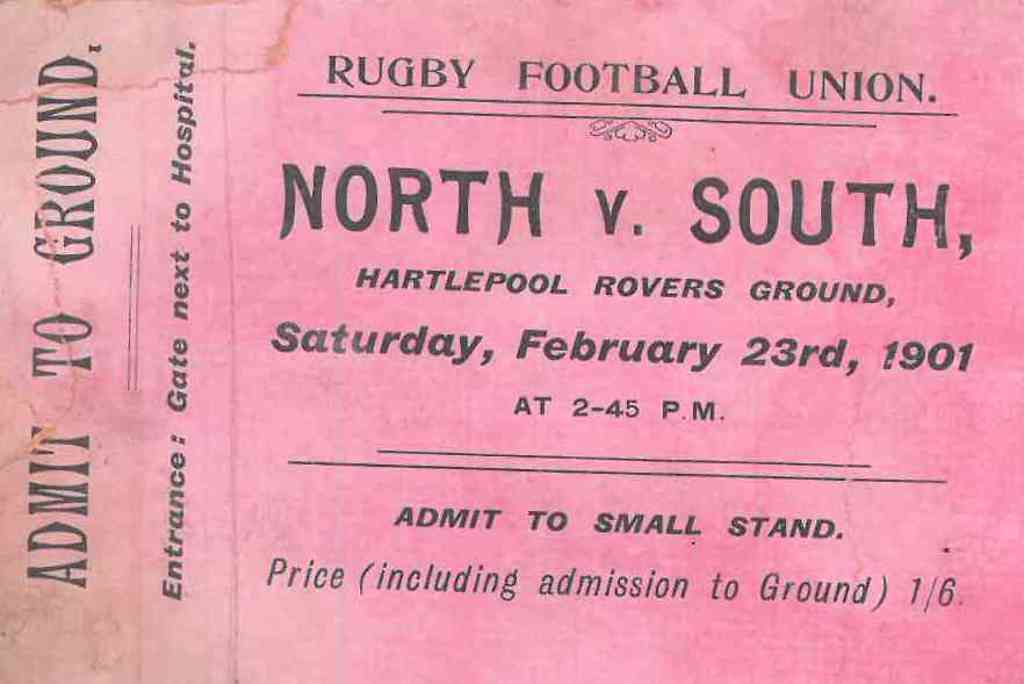 A Ticket for the North v South Trial, 23 February 1901