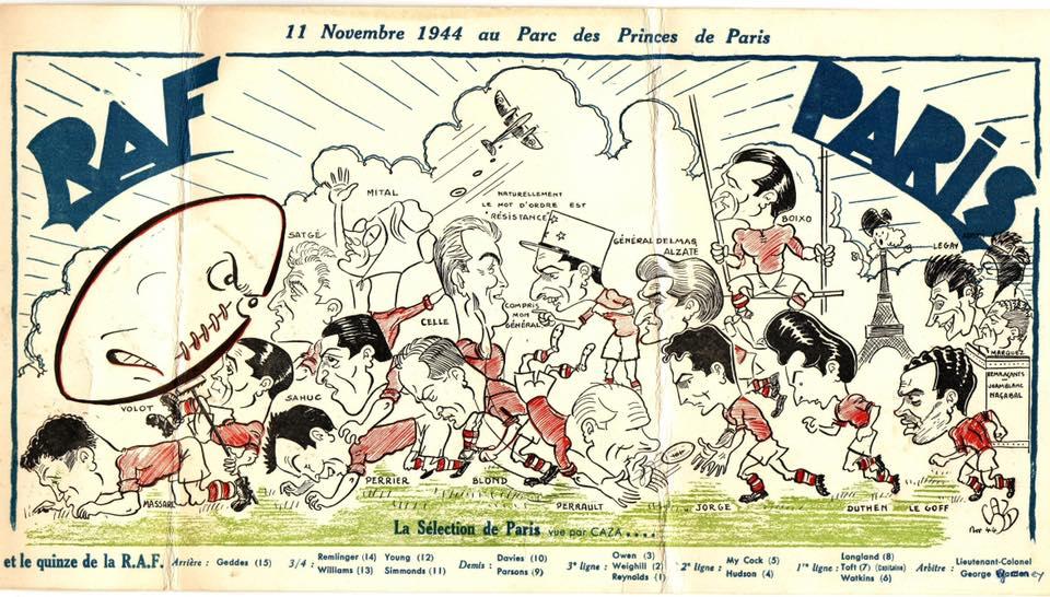 RAF v Paris, 11/11/1944, Parc des Princes