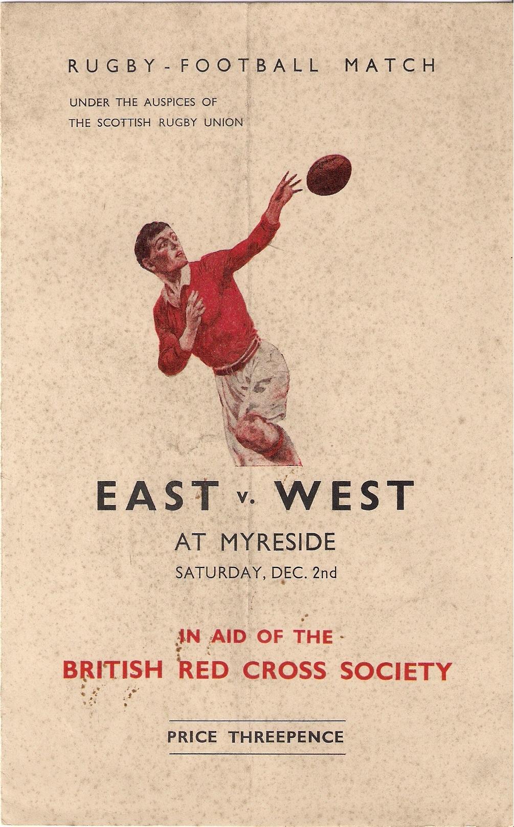 41 East v West 1939