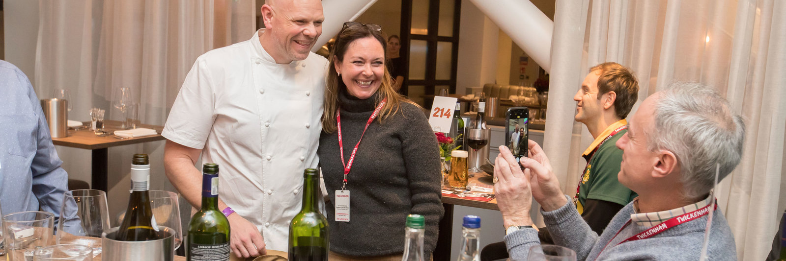 An evening with Tom Kerridge at Twickenham Stadium